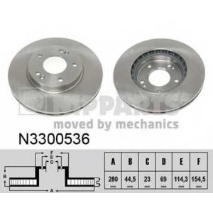 NIPPARTS N3300536 Тормозной диск