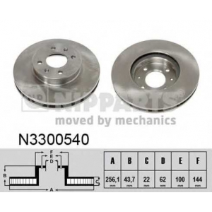 NIPPARTS N3300540 Тормозной диск