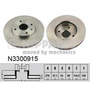 NIPPARTS N3300915 Тормозной диск