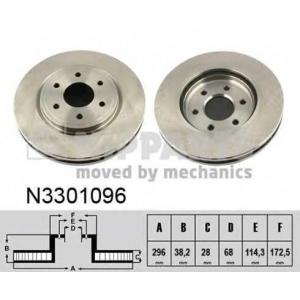 NIPPARTS N3301096 Диск гальмівний