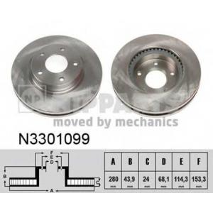 NIPPARTS N3301099 Тормозной диск