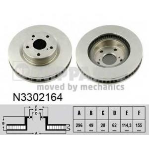 NIPPARTS N3302164 Тормозной диск