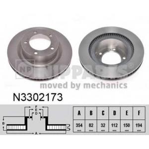 NIPPARTS N3302173 Гальмiвний диск