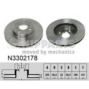 NIPPARTS N3302178 Тормозной диск