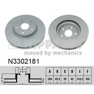 NIPPARTS N3302181 Гальмiвний диск