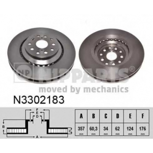 NIPPARTS N3302183 Гальмiвний диск правый