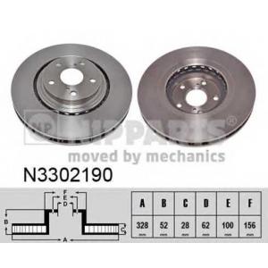 NIPPARTS N3302190 Гальмiвний диск