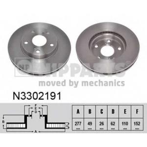 NIPPARTS N3302191 Гальмiвний диск