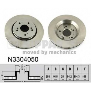 NIPPARTS N3304050 Тормозной диск