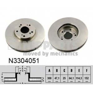 NIPPARTS N3304051 Тормозной диск