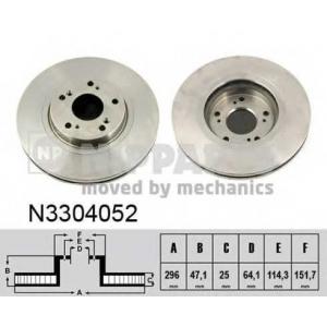 NIPPARTS N3304052 Тормозной диск