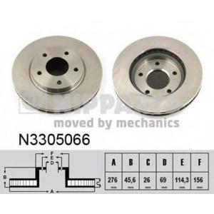 Тормозной диск n3305066 nipparts - MITSUBISHI LANCER SPORTBACK (CX_A) Наклонная задняя часть 1.8 (CX3A)