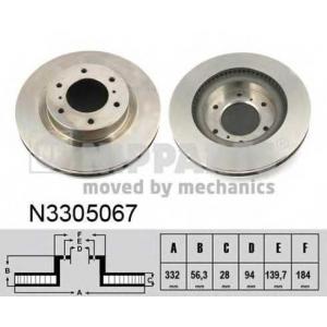 NIPPARTS N3305067 Тормозной диск