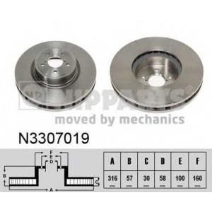 NIPPARTS N3307019 Гальмiвний диск