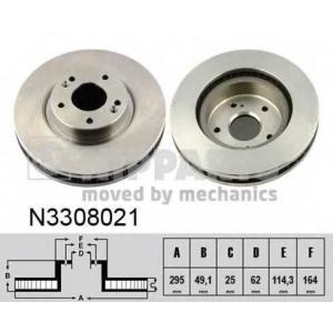 NIPPARTS N3308021 Диск гальмівний