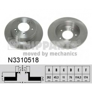 NIPPARTS N3310518 Тормозной диск