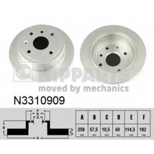 NIPPARTS N3310909 Тормозной диск