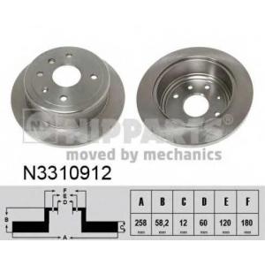 NIPPARTS N3310912 Тормозной диск