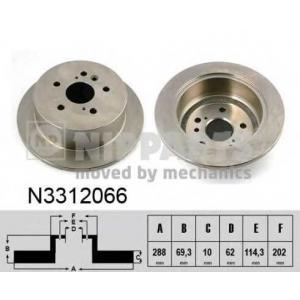 NIPPARTS N3312066 Тормозной диск