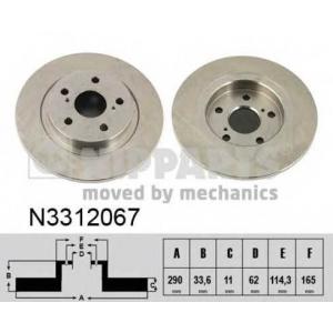 NIPPARTS N3312067 Тормозной диск
