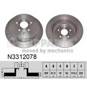 NIPPARTS N3312078 Гальмiвний диск