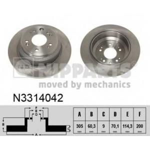 NIPPARTS N3314042 Диск гальмівний