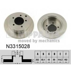 NIPPARTS N3315028 Диск гальмівний