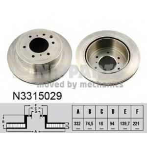 NIPPARTS N3315029 Диск гальмівний