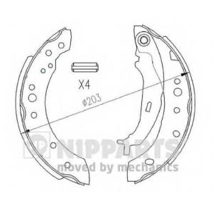 NIPPARTS N3505043 Комплект тормозных колодок