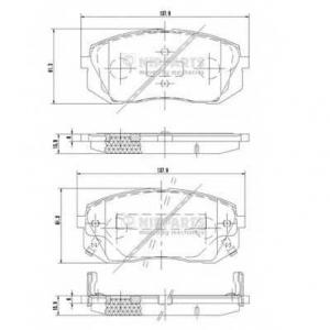 NIPPARTS N3600330 Комплект тормозных колодок