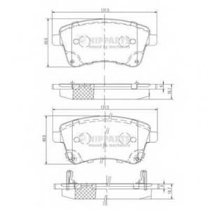 NIPPARTS N3600331 Комплект тормозных колодок