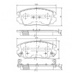 NIPPARTS N3600543 Комплект тормозных колодок