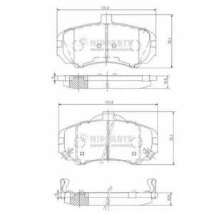 NIPPARTS N3600544 Комплект тормозных колодок