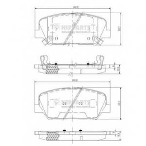 NIPPARTS N3600547 Комплект тормозных колодок