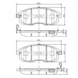 NIPPARTS N3601099 Комплект тормозных колодок