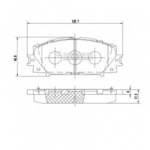 NIPPARTS N3602127 Комплект тормозных колодок