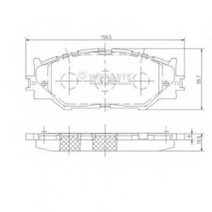 NIPPARTS N3602128 Комплект тормозных колодок