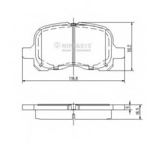 NIPPARTS N3602129 Комплект тормозных колодок