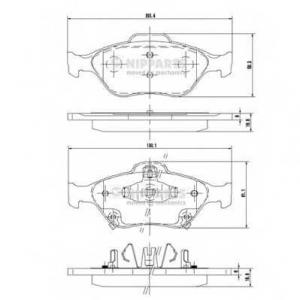 NIPPARTS N3602130 Комплект тормозных колодок