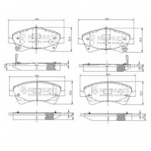 NIPPARTS N3602133 Комплект тормозных колодок