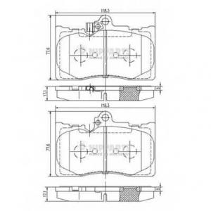 NIPPARTS N3602134 Комплект тормозных колодок
