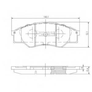NIPPARTS N3602137 Комплект тормозных колодок