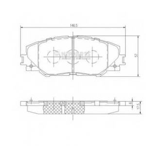 NIPPARTS N3602138 Комплект тормозных колодок