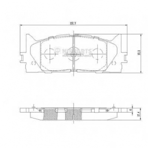 NIPPARTS N3602141 Комплект тормозных колодок