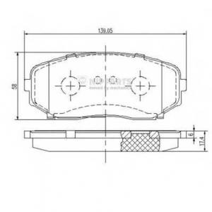NIPPARTS N3603070 Комплект тормозных колодок