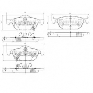 NIPPARTS N3604067 Комплект тормозных колодок