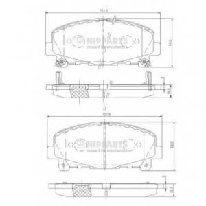 NIPPARTS N3604069 Комплект тормозных колодок