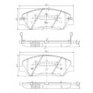 NIPPARTS N3605051 Комплект тормозных колодок