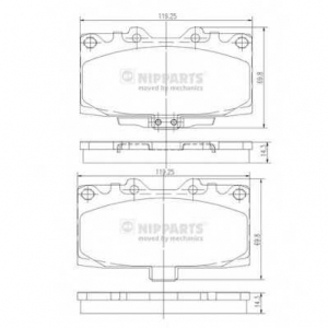 NIPPARTS N3607022 Комплект тормозных колодок