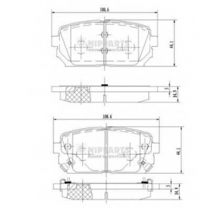 NIPPARTS N3610309 Комплект тормозных колодок